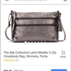 The Sak Collective metallic crossbody handbag.